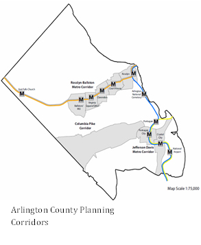 Arlington County Planning Corridors