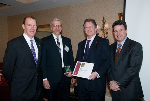 photo of receiving award