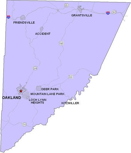 map of garrett county maryland Local Government Planning map of garrett county maryland