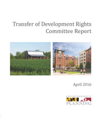 Cover of Transfer of Development Rights Program Committee Report