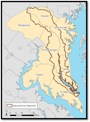 Patuxent River map