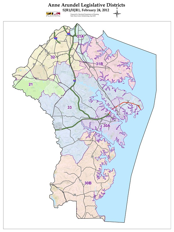 Anne Arundel County Map