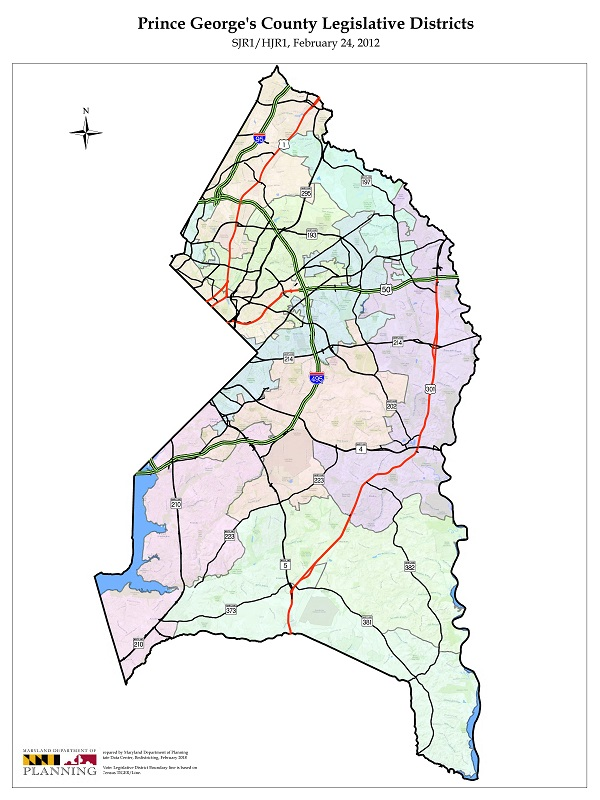 Prince George's County Map