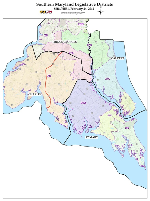 Southern Maryland Map
